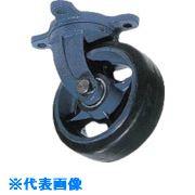 ■京町 鋳物製自在金具付ゴム車輪(幅広)〔品番:AHJ180X75〕[TR-8572332]