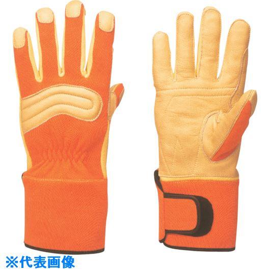 ■トワロン KC-60 消防用セラミックレザー手袋 オレンジ M〔品番:KC60-OM〕[TR-8575234]