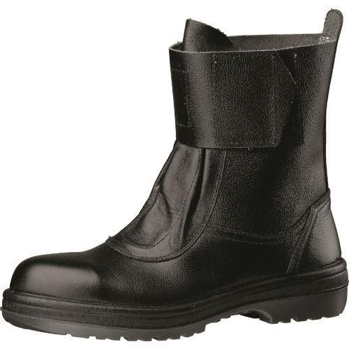 ■ミドリ安全 新ラバー2層底安全靴 熱場作業用 RT173Nブラック 25cm〔品番:RT173N-25.0〕[TR-8577548]