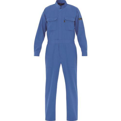■ミドリ安全 ベルデクセル 綿100% 帯電防止ツナギ服 ブルー S  〔品番:VE〕[TR-8578852]