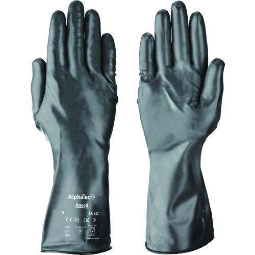 ■アンセル 耐薬品手袋 アルファテック 38-612 Mサイズ  〔品番:38-612-8〕[TR-8580710]