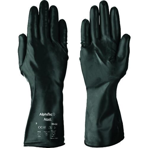 ■アンセル 耐薬品手袋 アルファテック 38-612 Lサイズ  〔品番:38-612-9〕[TR-8580711]