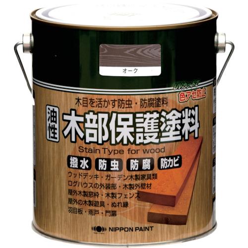 ■ニッぺ 油性木部保護塗料 1.6L オーク《4入》〔品番:HYM003-1.6〕[TR-8599437×4]