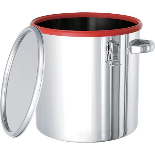 ■日東 カラーパッキン付密閉容器(赤)20L〔品番:CTH-DRE-30〕[TR-8666451 ]【運賃別途お見積り】