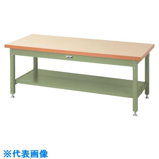 ■ヤマテック ワークテーブル スーパータイプH600 半面棚板2枚付〔品番:SSML-1890TT-IG〕[TR-8683309]【個人宅配送不可】