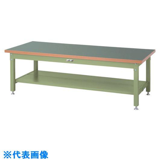 ■ヤマテック ワークテーブル スーパータイプH600 半面棚板2枚付〔品番:SSRL-1890TT-GG〕[TR-8683381]【個人宅配送不可】