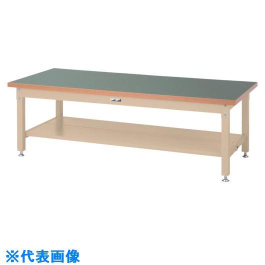 ■ヤマテック ワークテーブル スーパータイプH600 半面棚板2枚付〔品番:SSRL-1890TT-GI〕[TR-8683382]【個人宅配送不可】