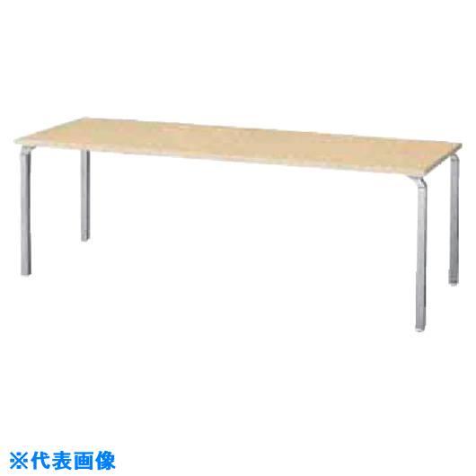 ■ナイキ テーブル 外寸法:W1800×D700×H700〔品番:WK187F-SVS〕[TR-8686610]【大型・重量物・個人宅配送不可】
