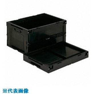 ■リス 導電性折りたたみコンテナーCB-S76A ブラック  〔品番:CBE-S76AS〕[TR-8686856]