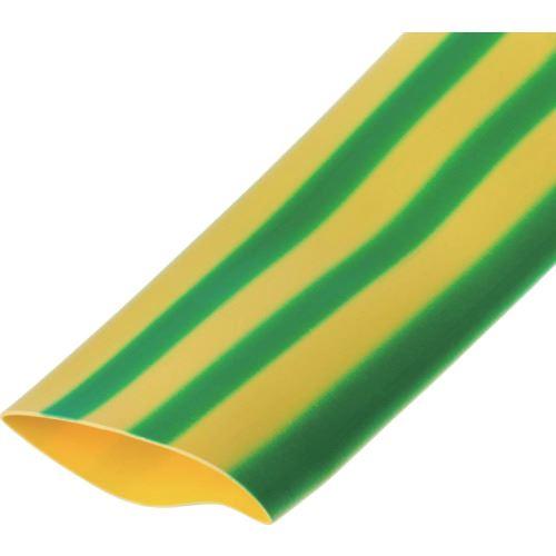 ■パンドウイット 熱収縮チューブ 標準タイプ 黄/緑 30.5M〔品番:HSTT100-C45〕[TR-8688003]