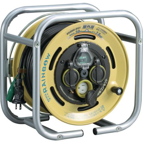 ■ハタヤ 段積みリールケーブルタイプ 漏電遮断器付 接地付  〔品番:DBE-30K〕[TR-8688405]