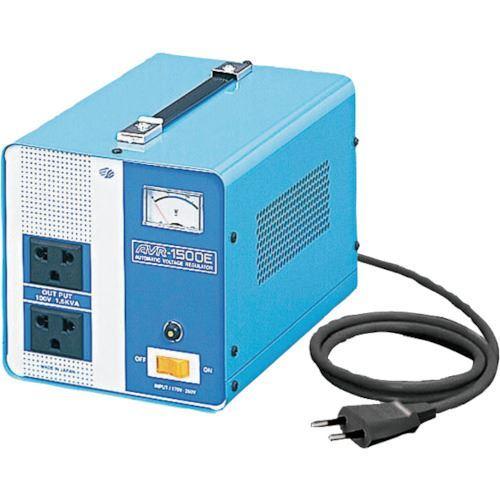 ■スワロー 海外用 交流定電圧電源装置 摺動式〔品番:AVR-1500E〕[TR-8688812][送料別途見積り]「法人・事業所限定][掲外取寄]