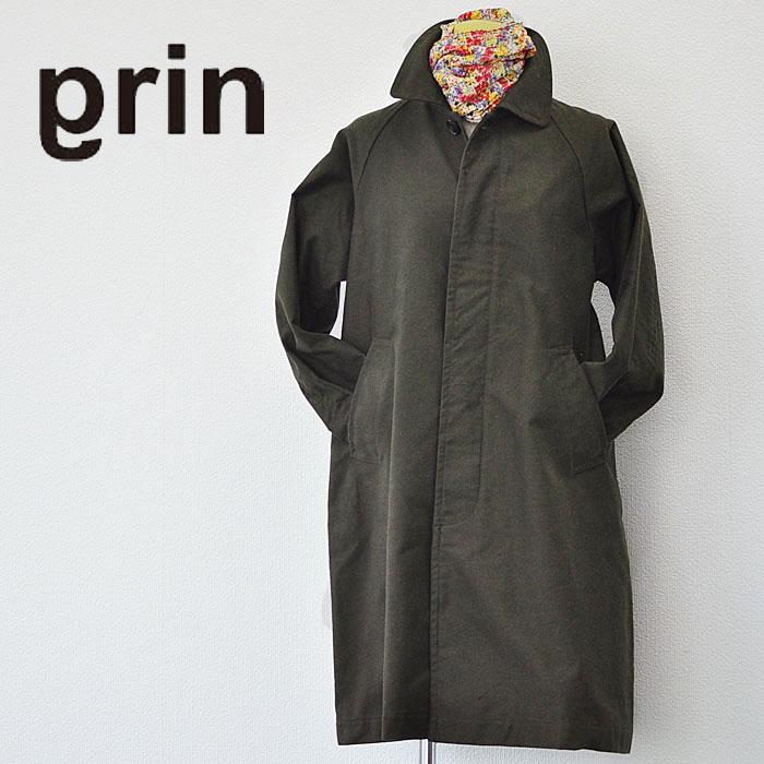 grin グリン モールスキンオーバー コート 8175J-001 レディース カーキ ステンカラーコート