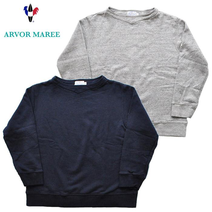 ARVOR MAREE アルボーマレー スウェット BOAT NECK SOFT SWEAT 紺 グレー M-XL SSW-BN カジュアル