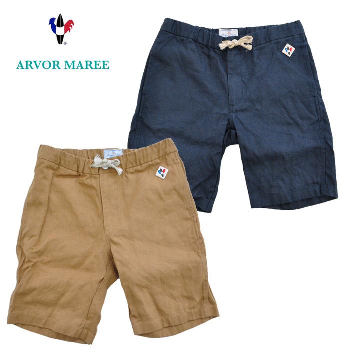 ARVOR MAREE アルボーマレー ショーツ DRIFT SHORTS 麻帆布 DFSH-LI ドリフトショーツ 紺 キャメル 38-42 ハーフパンツ カジュアル