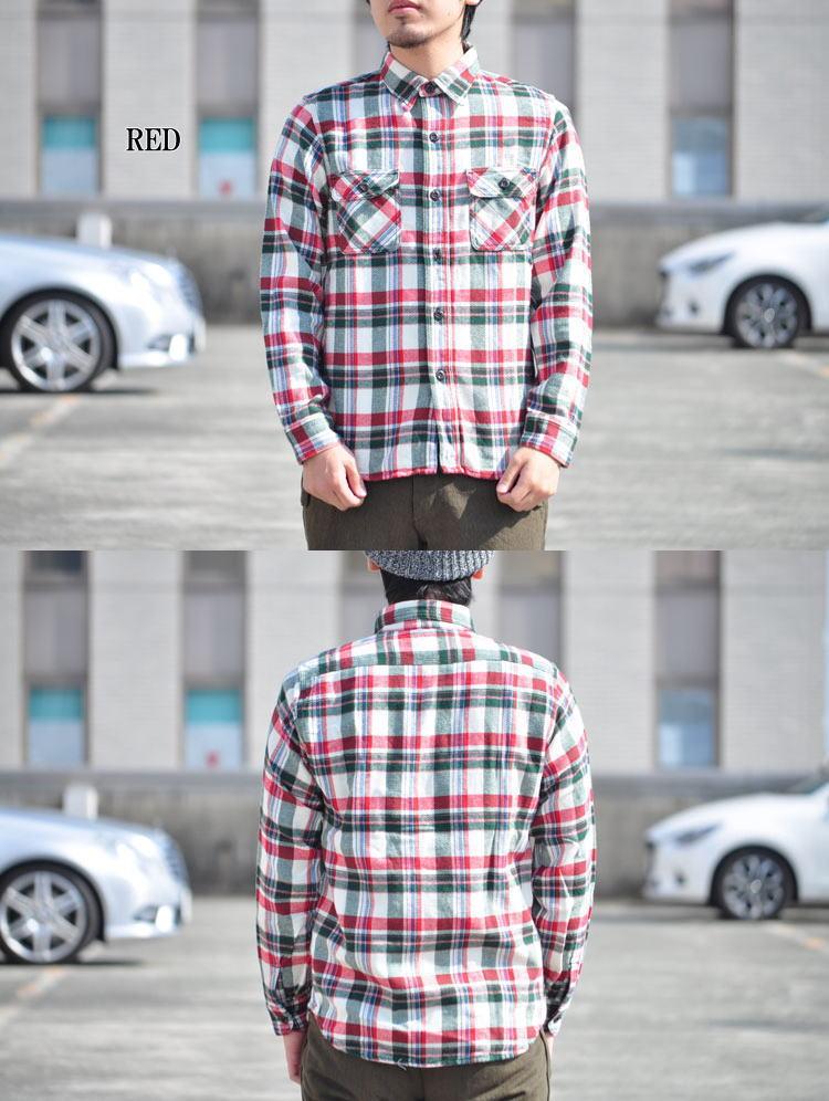 TWO MOON トゥームーン ワークシャツ ネルシャツ 720 メンズ 長袖