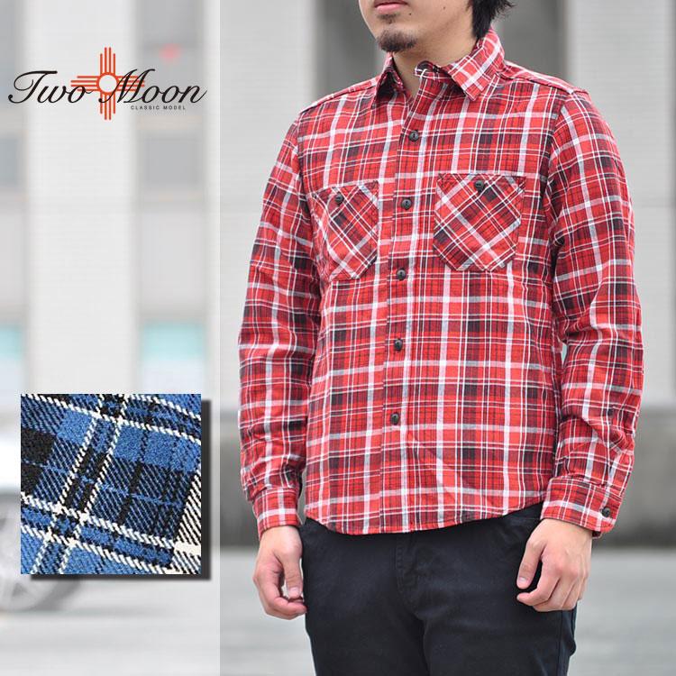 TWO MOON トゥームーン 723-20 ネルシャツ チェックシャツ