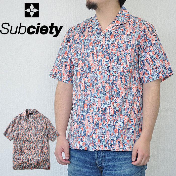SUBCIETY サブサエティ シャツ FEATHER SHIRT S/S メンズ 半袖 サブサエティー 104-22213