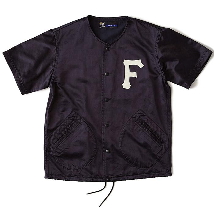 FAT エフエーティー シャツ SLICK ベースボールシャツ メンズ 半袖 紺 Mサイズ F31510-SH13
