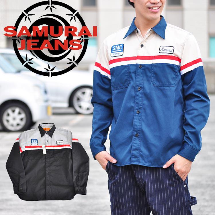 サムライジーンズ SAMURAI JEANS シャツ ワークシャツ SMTC15-KL サムライジーンズ (SAMURAI JEANS) 長袖 アメカジ あす楽 送料無料
