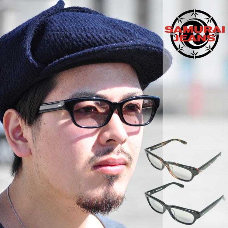 SAMURAI JEANS サムライジーンズ セルロイドサングラス ブラック SEW16-101