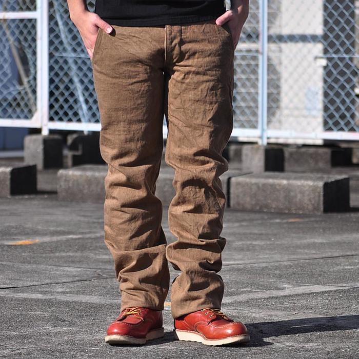 武士牛仔裤 /SAMURAI 牛仔裤和斜纹棉布裤 //SJ42CP/ ヘビーチノ 裤子 / 长裤 / 见底 / 15 周年纪念活动 / 武士汽车俱乐部 / 男士 / 武士