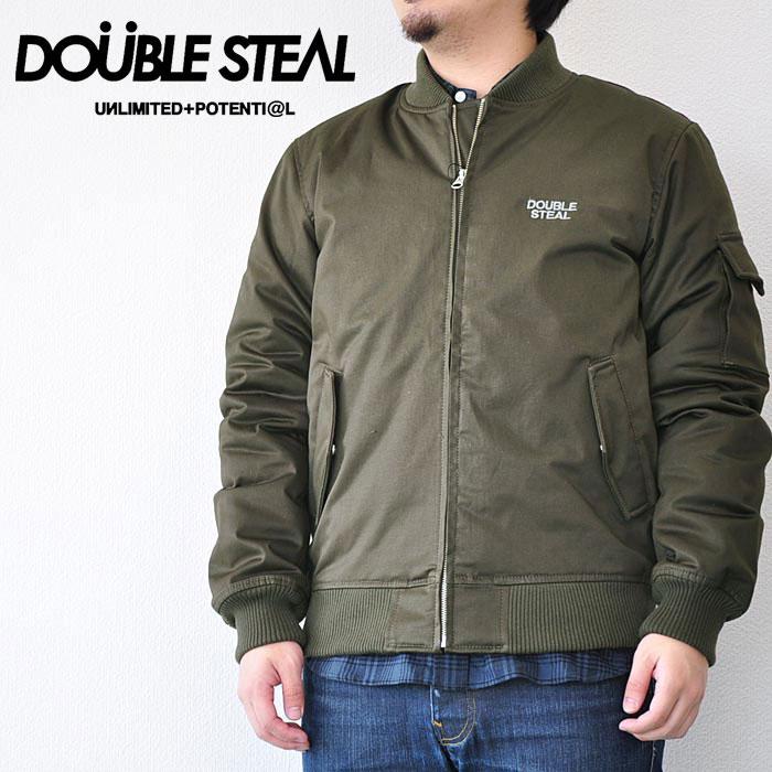 DOUBLE STEAL ダブルスティール ジャケット MILITARY BLOUSON メンズ ストリート 緑 M-XL 775-49206