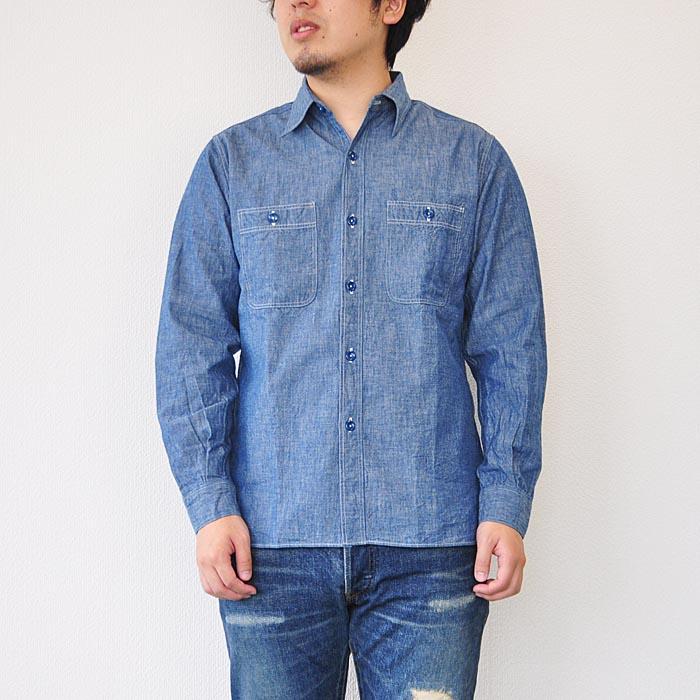 BUZZ RICKSON'S バズリクソンズ シャンブレーシャツ BR25995 メンズ ブルー