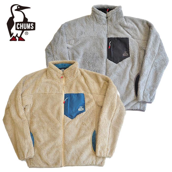 M-XL グレー ベージュ アウトドア CHUMS ジャケット Fleece 無地 チャムス Jacket フリース Bonding CH04-1242 カジュアル