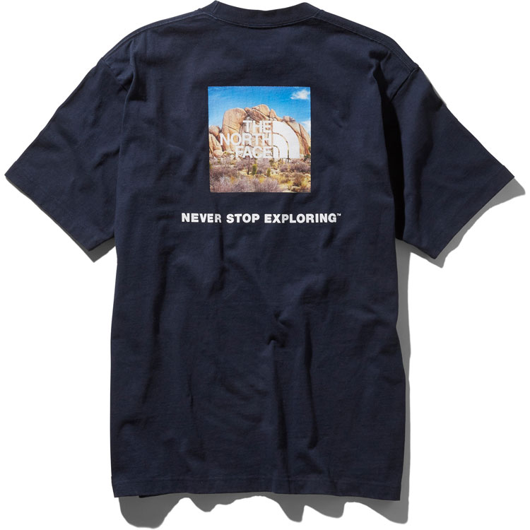 9cdc378d3 North Face THE NORTH FACE T-shirt men short sleeve square logo Joshua tree  tea S/S Square Logo Joshua Tree Tee black white navy M-XL NT31952