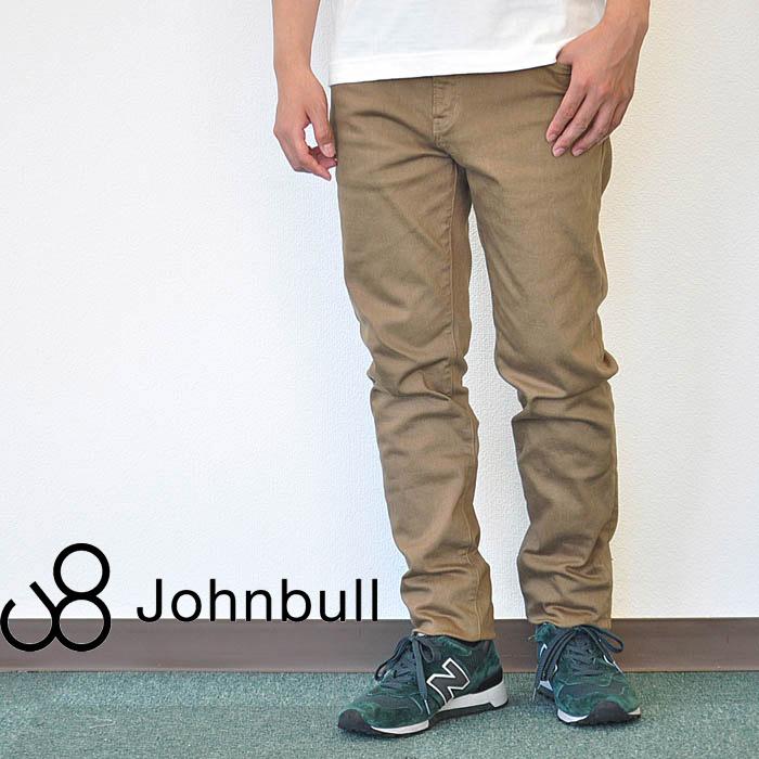 JOHNBULL ジョンブル パンツ フレックス スリムテーパードパンツ メンズ チノパン ベージュ M-XL 21143