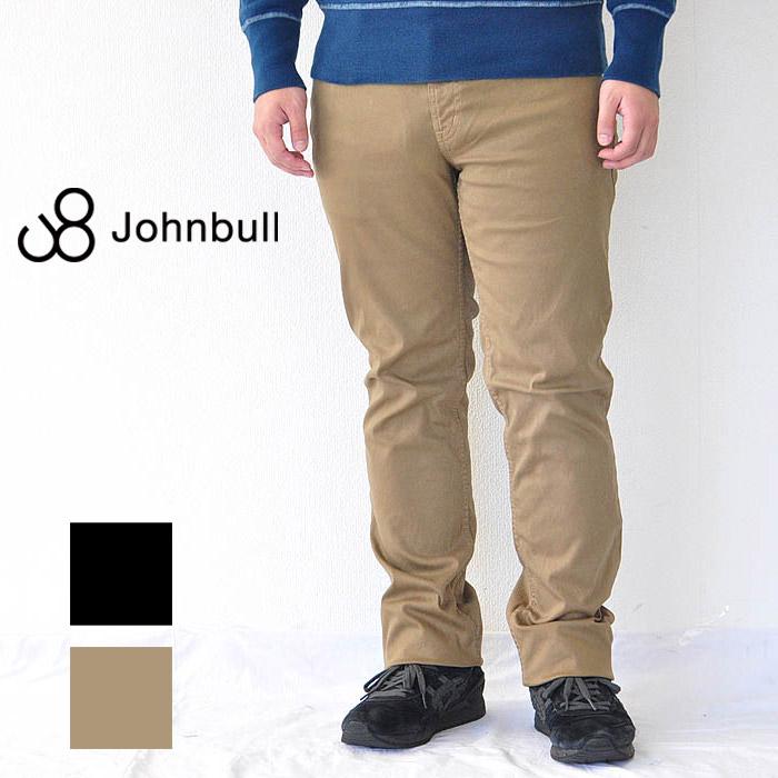 JOHNBULL ジョンブル パンツ トリコチン スナッグパンツ メンズ 黒/カーキ M-3L 21462