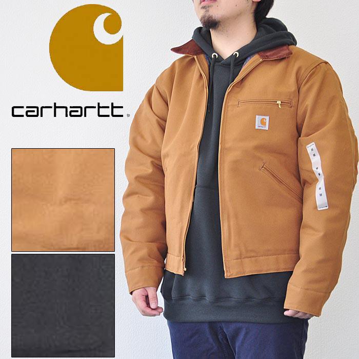 carhartt カーハート ジャケット J001 DUCK DETROIT JACKET ダックデトロイトジャケット S-L ブラウン 黒 メンズ