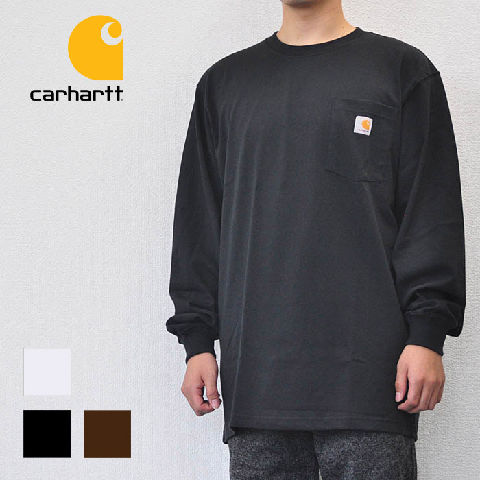 retail prices best supplier sneakers for cheap Car heart carhartt men tops Ron T Long Sleeve Workwear Pocket T-Shirt crew  neck pocket long sleeves T-shirt K126