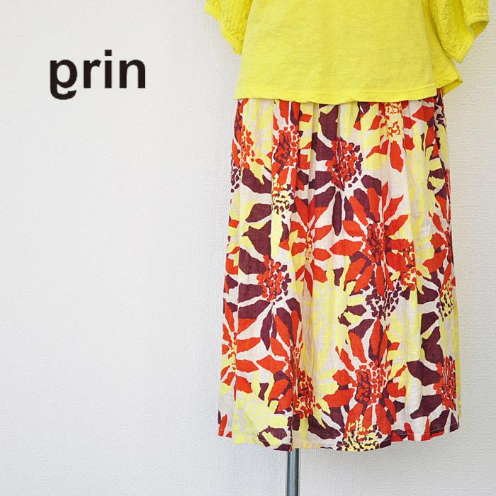 grin グリン スカート LSF ギャザー スカート レディース 花柄 Mサイズ 8161S-003