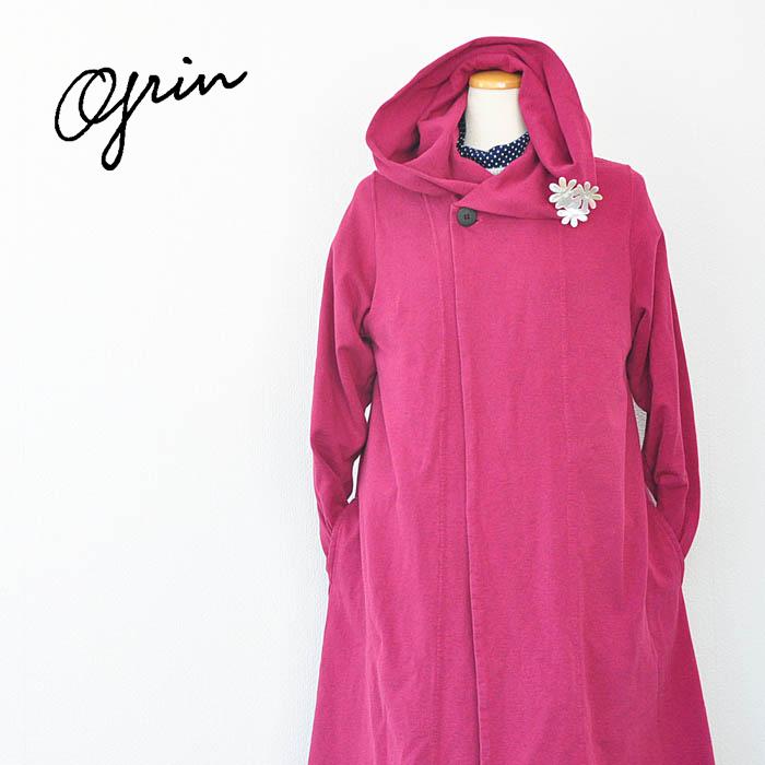 grin グリン コート エーゲ海Uフードコート レディース アウター Mサイズ ピンク 8184C-003