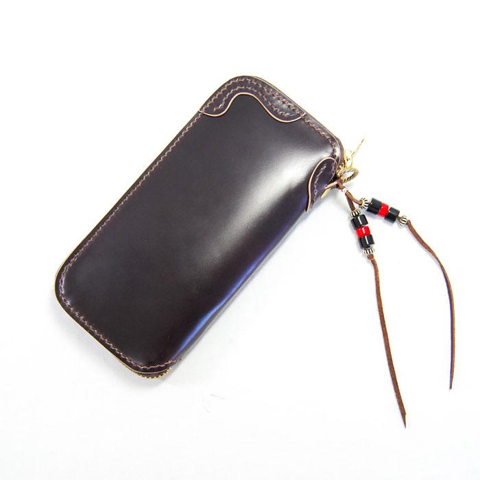 SYO FACTORY ショーファクトリー ロングウォレット 財布 レザー コードバン 馬革 牛革 ハンドメイド TARONzipper タロンジッパー ブラウン