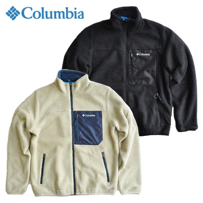 コロンビア 黒 COLUMBIA M-XL PM3846 シュガードームジャケット フリースジャケット アウトドア ベージュ