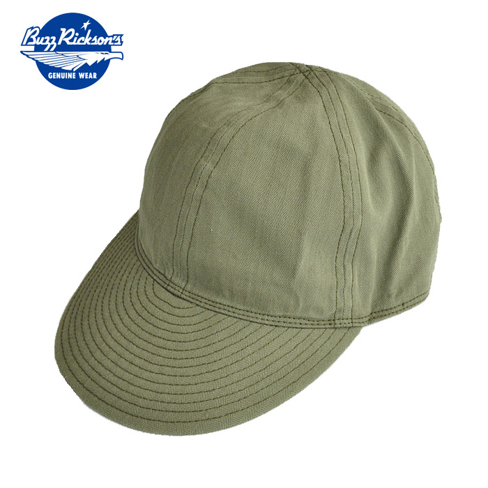 47580444658 BUZZ RICKSON S バズリクソンズキャップ CAP MECHANICS TYPE Skywarrior olive military  American casual BR02536