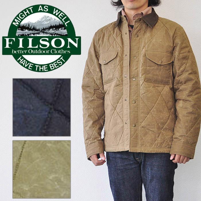 FILSON フィルソン HYDER QUILTED JAC-SHIRT ジャケット メンズ 秋冬 ネイビー/タン 19390