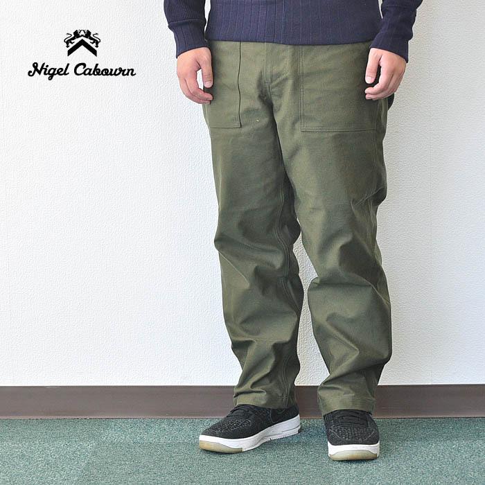 NIGEL CABOURN ナイジェルケーボン パンツ ユーティリティパンツ UTILITY PANT (SATIN) メンズ 32インチ カーキ ミリタリー