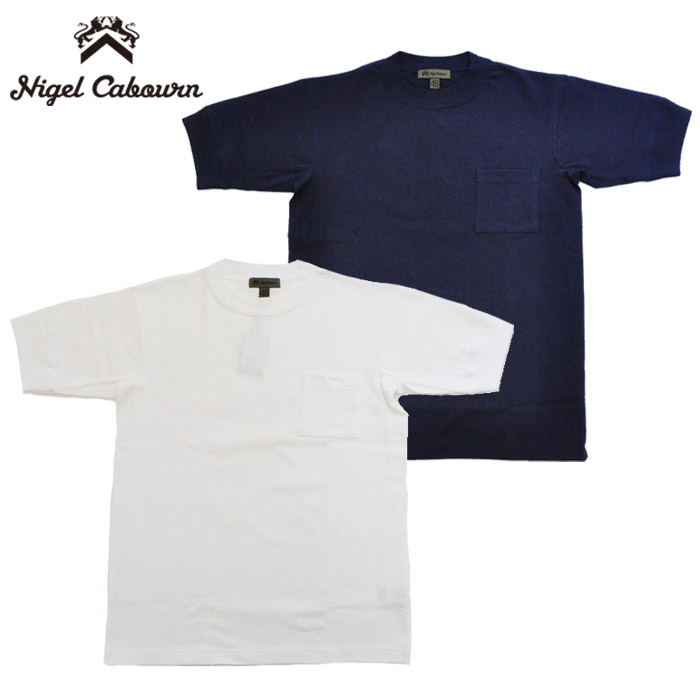 ナイジェルケーボン Tシャツ 40'S WORK CREW NECK SHORT SLEEVE 白 紺 M-XL NIGEL CABOURN 80400021000