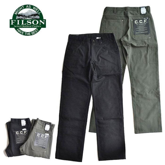 UTILITY パンツ FILSON ボトムス 黒 PANTS C.C.F. 緑 フィルソン CANVAS 32-36 ユーティリティキャンバスパンツ