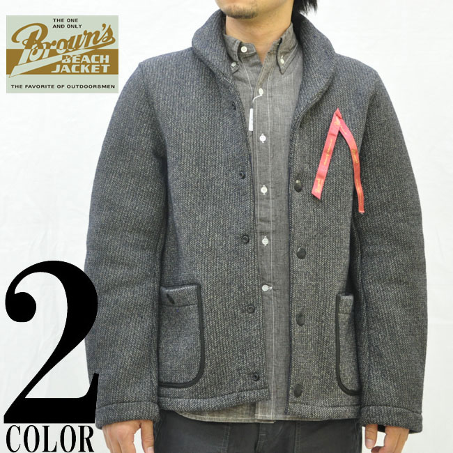 BROWN's BEACH / ブラウンズビーチ jacket //BROWN's BEACH SHAWL COLLAR JACKET/BROWN's BEACH JACKET and ブラウンズビーチ jacket / shawl collar /BBJ2-006