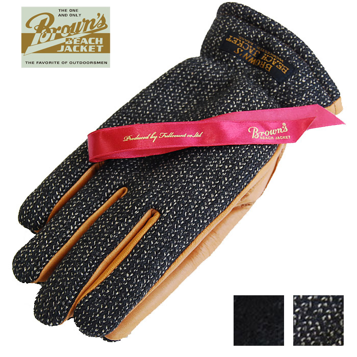 BROWN'S BEACH ブラウンズビーチ 手袋 レザー グローブ BBJ9-010 BROWN'S BEACH GLOVES メンズ
