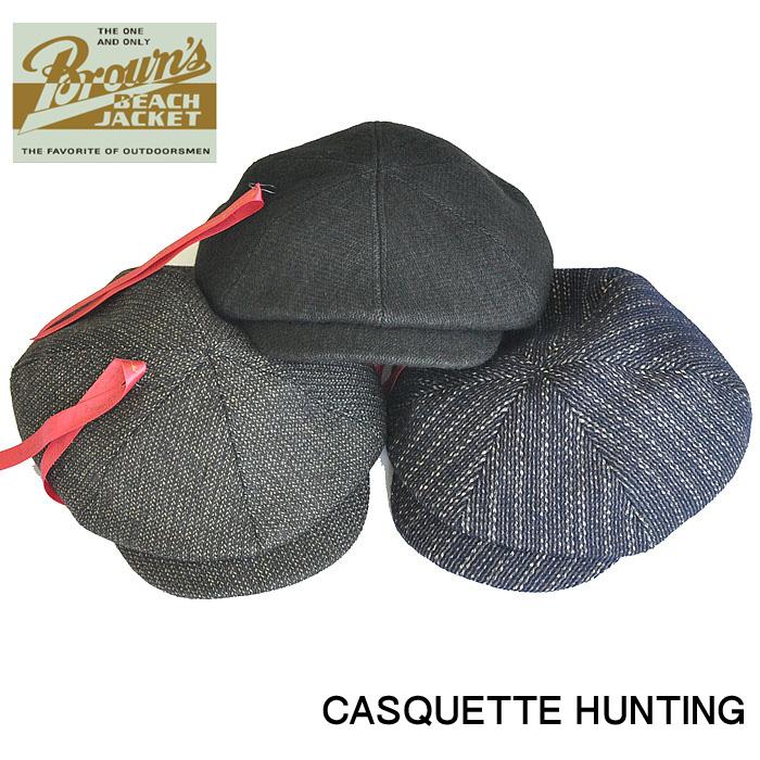 BROWN'S BEACH ブラウンズビーチ キャスケット ハンチング 帽子 アメカジ BBJ9-008