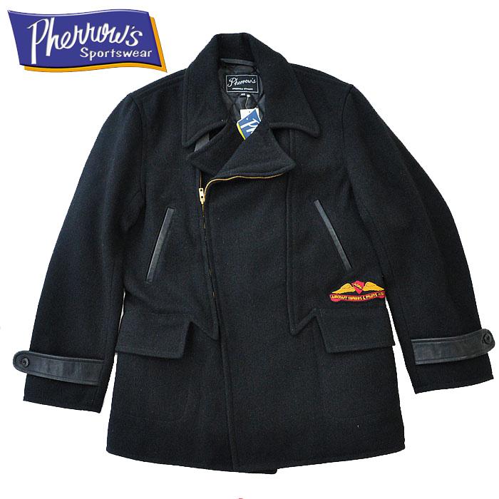 PHERROW'S フェローズ ジャケット モーターサイクルコート 14W-PBC1 メンズ 黒