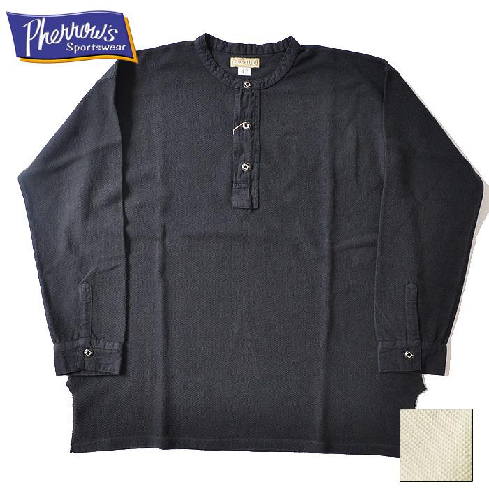 PHERROW'S フェローズ Tシャツ ヘンリーネック 19S-100WC 鹿の子 ロンT 新作