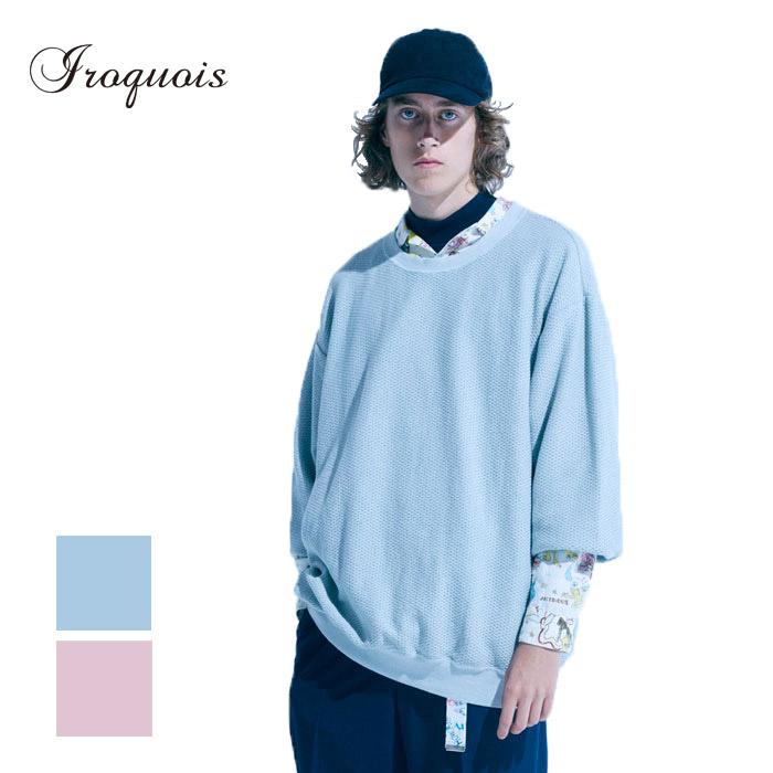 Iroquois イロコイ 20/2 PARALLELED YARN L/S Tシャツ 長袖 オーバーサイズ ダニエルジョンストン