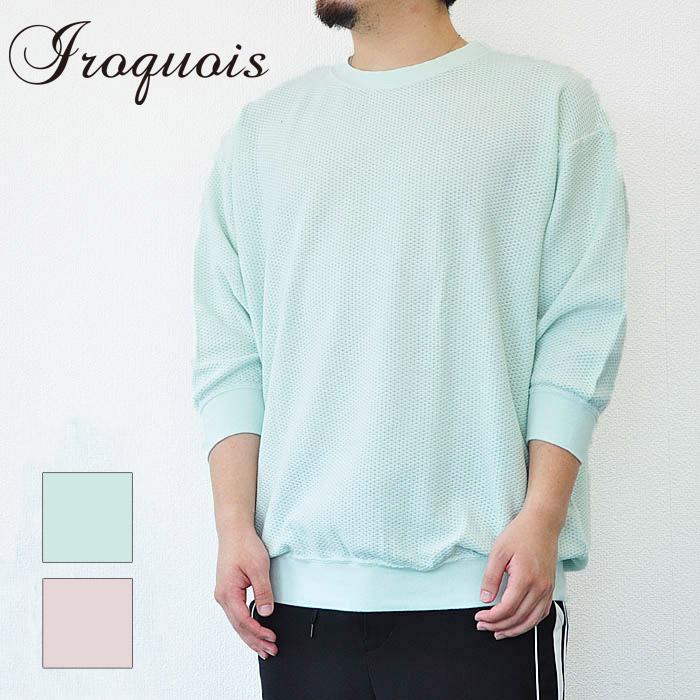 S-M ピンク PARALLELED イロコイ 緑 Iroquois 30/2 182112 YARN メンズ Tシャツ